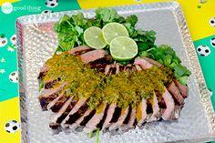 Brazilian Grilled Sirloin with Chimichurri Sauce! SO GOOD!!!