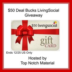 LivingSocial has great gifts for anyone on your shopping list friends, family, teachers or just a pay it forward. They have so many great gift