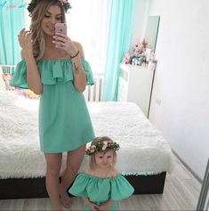 Mom and Daughter Dress