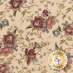 """Country French 8302-E by Maywood Studio Fabrics: Country French is a floral fabric collection by Maywood Studio Fabrics. This fabric features all over floral bouquets tossed on a cream background. Width: 43""""/44""""Material: 100% CottonSwatch Size: 6"""" x 6"""""""