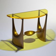 Philippe Hiquily and Jean-Claude Farhi - Cast Bronze and Perspex Console by Bocquel Foundary, 1968 Vintage Furniture Design, Home Bar Furniture, Eclectic Furniture, Buy Furniture Online, Art Deco Furniture, Funky Furniture, Furniture Deals, Luxury Furniture, Beaux Arts Paris