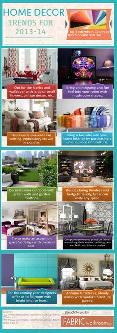 Interesting infographic on home decor trends 2013-14 by fabricworkroom.com