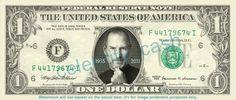 ほんとうに使えるスティーブ・ジョブズ1ドル札。
