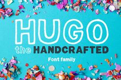 Hugo - The huge handlettered family by Mammoth! on @creativemarket