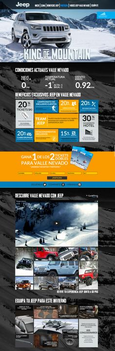 """Responsive one pager with the purpose of creating an environment for """"Invierno Jeep"""" - what an an incredible into image, even on big screens."""