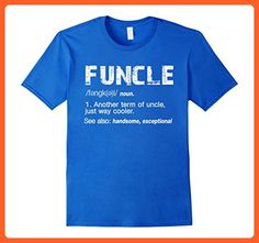 Mens Funny Uncle Funcle Definition Grunge Shirt Large Royal Blue - Funny shirts (*Partner-Link)