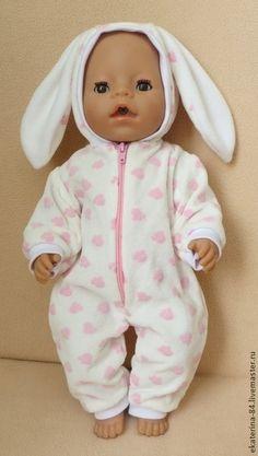 """Комбинезон """"Зайка"""" - одежда для кукол,одежда для беби бона,одежда для беби бон"""