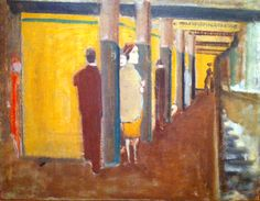 "Subway Scenes- Rothko At the root of Rothko's presentation of archaic forms and symbols as subject matter illuminating modern existence had been the influence of Surrealism, Cubism, and abstract art. In 1936, Rothko attended two exhibitions at the Museum of Modern Art, ""Cubism and Abstract Art,"" and ""Fantastic Art, Dada and Surrealism.""  Both experiences greatly influenced his celebrated 1938 ""Subway Scene""."