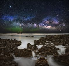 "The Milky Way rising off the coast of Coral Cove in South Florida. The green glow near the horizon is airglow. Follow me on <a href=""https://www.facebook.com/JasonRWeingart"">facebook</a> and <a href=""https://twitter.com/JasonRWeingart"">twitter.</a> Visit my <a href=""http://www.jasonrweingart.com"">website </a> to see more of my work."