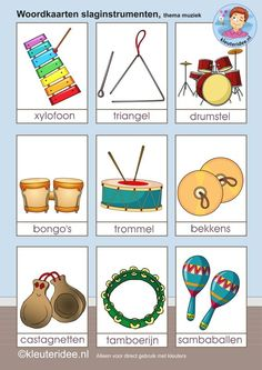 thema muziek groep 2 - Google zoeken Physical Education Games, Music Education, English Picture Dictionary, Learn Dutch, Making Musical Instruments, Dutch Language, Music Worksheets, Musical Toys, Team Building Activities