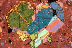 Glomerocryst of plagioclase and pyroxene, whose chemical compositions, textures and melt inclusions help decipher just what happens in a magma chamber.