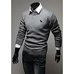 Men's Casual/Daily Vintage Regular Pullover,Solid Striped Color Block Round Neck Long Sleeves Others Fall Winter Thick Micro-elastic 2017 - $14.09