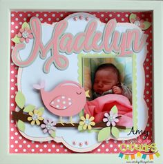 Amys Collages and Other Scrap Stuff: Baby Girl Shadowbox