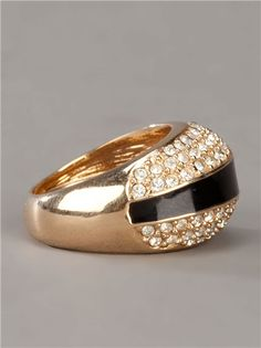 Christian Dior vintage crystal ring