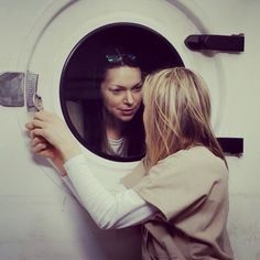 Alex Vausse and Piper Chapman in Laundry Room #OITNB