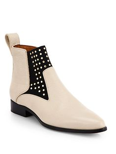 Chloé - Studded Leather Ankle Boots - Saks.com