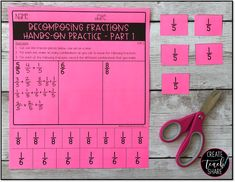 Upper Elementary Snapshots: My Favorite Fraction Lesson: Decomposing Fractions