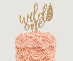 Wild One Cake Topper for First Birthday Party - Smash Cake - Glitter Cupcake and Cake Topper - 1st B