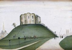 Clifford's Tower, York by Laurence Stephen Lowry York Museum, York Art Gallery, Public Display, Spencer, English Artists, British Artists, Social Art, Art Database, North Yorkshire