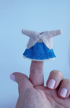 Handmade miniature dress and gardigan