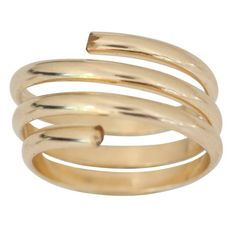 14k Gold Wire Wrap Yoga Coil Adjustable Toe Ring (not plated) - Jewelry For Her