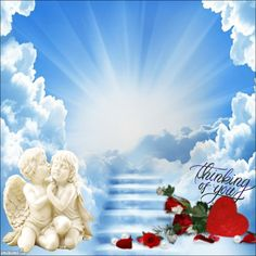 Heaven Art, Way To Heaven, Mom In Heaven Quotes, Heaven Pictures, Disney Frames, Birthday Photo Frame, Birthday In Heaven, Religious Photos, Memory Frame