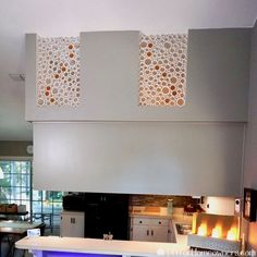 """Despite all the work our """"DIY PVC Pipe Privacy Screen"""" entailed, we were determined to repeat the process on an indoor piece. We incorporated many of the sugges… Decorative Screen Panels, Mother Daughter Projects, Plastic Pumpkins, Faux Stained Glass, Panel Wall Art, Window Art, How To Make Diy, Boho Diy, Hanging Curtains"""