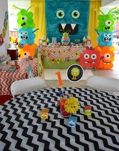Partylicious Events PR: {Little Monster Birthday Bash} Little Monster Birthday, Monster 1st Birthdays, Monster Birthday Parties, First Birthdays, 1st Birthday Themes, Baby Boy First Birthday, Birthday Bash, Birthday Ideas, Happy Birthday