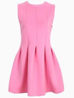Shop Pleated Skater Vest Dress in Pastel Pink from choies.com .Free shipping Worldwide.