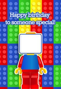 """Free Printable """"To Someone Special"""" birthday Greeting Card, with an option to add your own photo."""