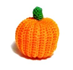 Pumpkin Crochet Decoration or Cat toy by forpawsandhome on Etsy