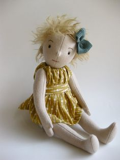wool felt jointed doll by foxandowl on Etsy .... I love this little doll ...