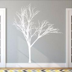 Winter Tree Style 2B Large Vinyl Wall Decal 22221 - Cuttin' Up Custom Die Cuts - 1