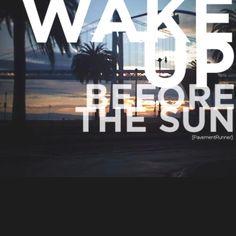 Love morning runs/workouts. 4am wakeup call. #dailydiscipline