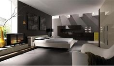 Masculine yet elegant bedroom. You can always add a few more feminine touches, but I enjoy the simplicity of this.