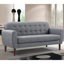 Shop for Carson Carrington Claiborne Modern Tufted Linen Fabric Loveseat. Get free delivery On EVERYTHING* Overstock - Your Online Furniture Store! Furniture Legs, Living Room Furniture, Modern Furniture, Furniture Direct, Best Sofa, Architecture, Decoration, Love Seat, Room Decor
