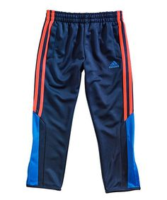 Piqué fabric delivers breathable comfort with a quick-drying finish, and a pull-on waistband offers active flexibility. Sport Fashion, Pyjamas, Kids Outfits, Track, Sweatpants, Adidas, Navy, Orange, Children