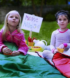 outdoor movie night...even tell you where to rent a projector...older kid birthday party?  cute idea