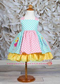 Little Girl Dresses, Girls Dresses, Summer Dresses, Belle Disney, Princess Girl, Disney Dresses, Applique Dress, Custom Dresses, Sewing For Kids