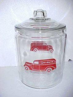 Vintage Gordon's 2 Gal Sandwich Peanut Jar w Lid Tom's Store Lance Gordons | eBay