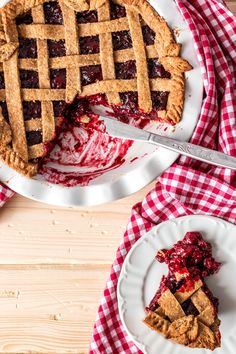 This Vegan Cherry Pie recipe is made from all healthy ingredients, even the crust! With an easy and fresh homemade filling, absolutely delicious!