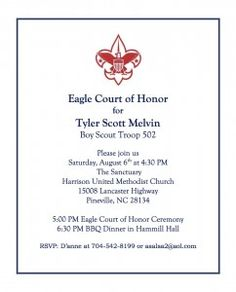 1000 images about eagle scout court of honor ideas on for Eagle scout court of honor program template