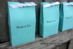 Aqua Blue Baby Favors Baby Shower Favor by abbeyandizziedesigns