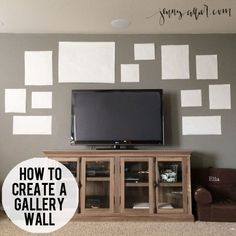 Step-by-step tips on how to create a gallery wall in your own home. - http://jennycollier.com/how-to-create-a-gallery-wall/