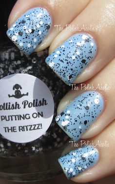 Dollish Polish - Putting On the Ritzzz over Nicole by OPI - Nothing Kim-pares to Blue