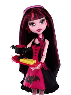 Draculaura Ghouls Night Out Die-ner Monster High Doll  (I have her.) - This doll was only available with the Ghouls Night Out Die-ner playset.