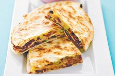 If you like Mexican/spicy food, you will love my vegan take on the classic bean and cheese quesadillas! They are delicious, quick and easy and not mouth-scorchingly hot, merely pleasantly spiced. You can use either wheat or corn tortillas and. Mexican Food Recipes, Vegetarian Recipes, Dinner Recipes, Ethnic Recipes, Dinner Ideas, Cooking Recipes, Vegetarian Dinners, Savoury Recipes, Lunch Ideas