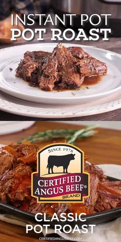 Make classic pot roast in an Instant Pot and enjoy a hearty, comforting family meal in a fraction of the time it takes to traditionally cook a roast in a Dutch oven. #certifiedangusbeef #bestangusbeef #beefrecipe #instantpot #instantpotrecipes #potroast