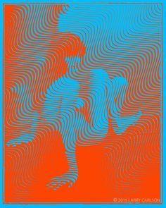 op art orange blue - Google Search