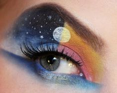 Eye Makeup Tips.Smokey Eye Makeup Tips - For a Catchy and Impressive Look Crazy Eye Makeup, Creative Eye Makeup, Eye Makeup Art, Eye Art, Beauty Makeup, Crazy Eyeshadow, Punk Makeup, Fairy Makeup, Hair Beauty